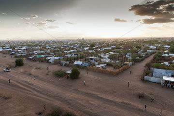 Kakuma  Kenia - Luftaufnahme des Fluechtlingslagers Kakuma.