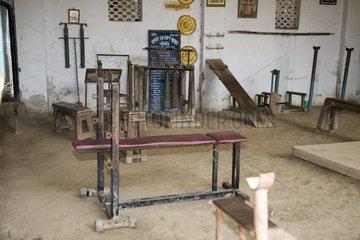 Calcutta  A fitness room.