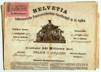 Versicherungspolice Feuerversicherung  1906