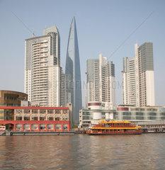 Shanghai  Finanzviertel auf Pudong.