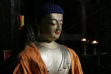 Lhasa  Buddah Skulptur  Kloster Mindroling