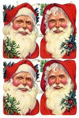 Weihnachtsmaenner  Oblaten  England  1930