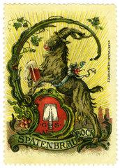 Spatenbraeu Bock  Muenchner Starkbier  Werbung  1912