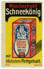 Waschmittel Schneeekoenig  Werbung  1912