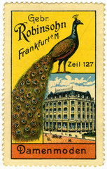 Damenmode Gebr. Robinsohn  Frankfurt  Werbemarke  1910