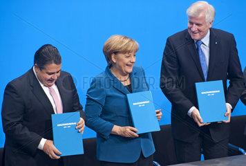 Gabriel + Merkel + Seehofer