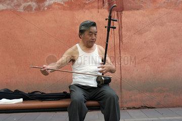 Musiker im Jingshan-Park