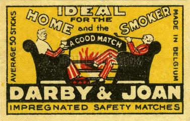 Darby and Joan  Streichholzschachtel  Etikett  1930