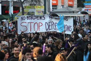 GREECE-ATHENS-ANTI-RACISM DAY-DEMONSTRATION