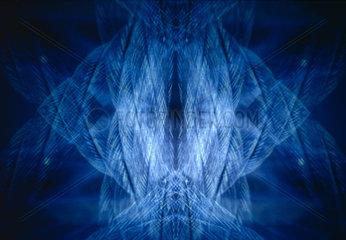 Blaues Licht wie ein Rorschach muster  Rorschachtest