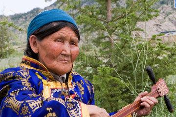 Portrait einer alten Frau | portrait of an old Mongolian woman