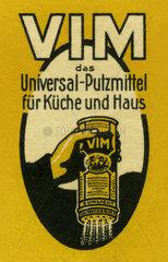 VIM Putzmittel  Werbemarke  1912