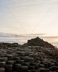 Sonnenuntergang am Giant's Causeway