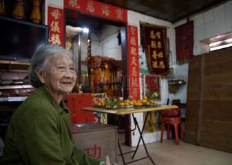 Haikou  old chinese woman