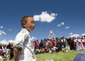 Mongolisches Fest nahe Hemu