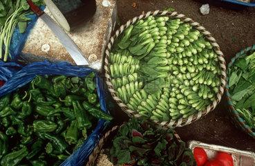 Shanghai  Lebensmittel auf einem Markt