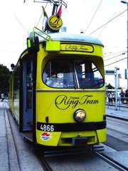 Ring Tram am Schwendenplatz im 1. Wiener Bezirk redaktionell verwendbar  Pressefoto