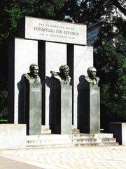 Republikdenkmal zur Errichtung der Republik Oesterreich am 12. 11. 1918  im 1. Wiener Bezirk Redaktionell verwendbar  Pressefoto