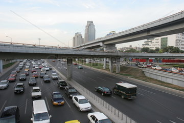 Strassenszene  Neubaugebiet Xizhimen  Autobahn