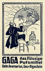 Gaga  fluessiges Putzmittel  Werbung  1910
