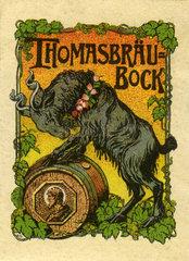 Thomasbraeu Bock  Muenchner Starkbier  Werbung  1912
