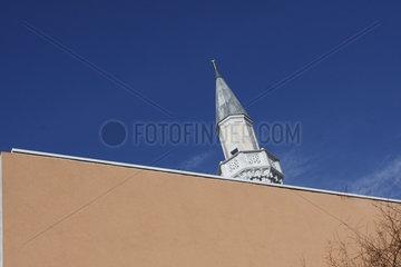 Minarett eine Moschee Im Berlin