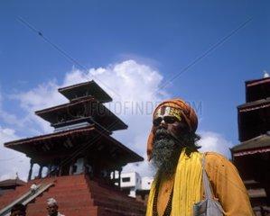 Nepal  Bhaktapur  Sadhu holy man