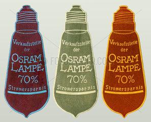 Osram Lampen  Werbemarke  1910