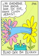 Blind-Date bei Blumen