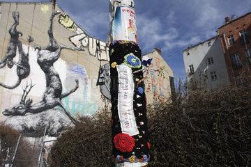 trottoir stret art in Berlin