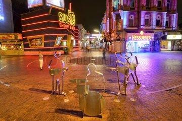 Grosse Freiheit und Beatles-Platz in St. Pauli  Hamburg  Deutschland