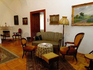 Salon im Schloss Ponay in Ungarn
