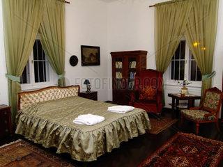 Schlafgemach im Schlosshotel Pronay Ungarn
