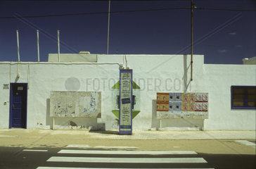 Zebrastreifen in Caleta de Famara  Lanzarote