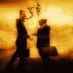 Handshake Business Peace Vertrag Verhandlung Future