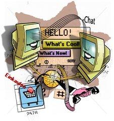 Chat Chatroom Monitor Computer Onlinekauf Informationen