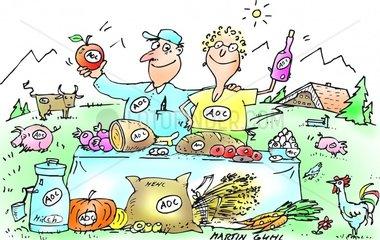 aoc farm bauernhof produkte essen frisch bio verkauf g__te siegel