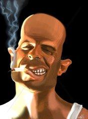Bruce Willis Karikatur