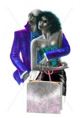 Kaufen Shopping Paar Liebespaar