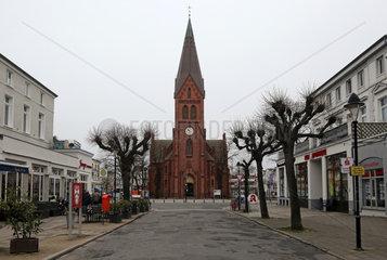 Warnemuende  Kirche der Evangelisch-Lutherischen Kirchengemeinde Warnemuende