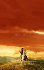 Gewitterstimmung Reiter Western