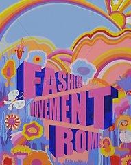Retro 1970er Jahre Fashion Flower Power Rosa Blau Test