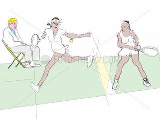 Wimbledon 2008 Serena vs Venus Williams Tennis Tennisspiel