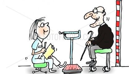 arzt visite alt waage doktor untersuch vorbeugung