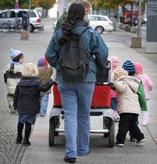 Ausflug im Kindergarten