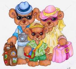 Baerenfamilie macht Sommerferien