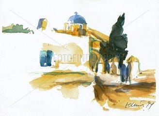 Insel Santorini Serie