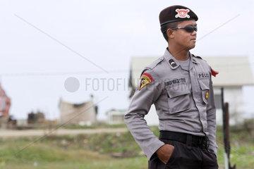 Polizist in Banda Aceh