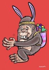 Oster Gorilla ist nicht der Osterhase - mal etwas anderes fuer Ostern