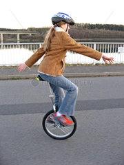 Einradfahrerin